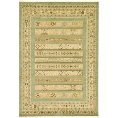 Foret Noire Light Green Area Rug Rug Size: 33 x 53