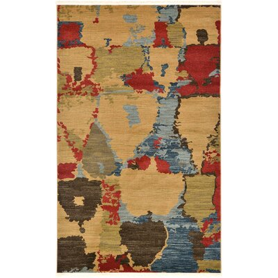 Jan Light Brown Area Rug Rug Size: 6 x 9