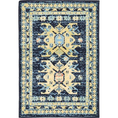 Valley Navy Blue Area Rug Rug Size: Rectangle 22 x 3