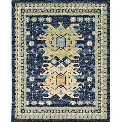 Valley Navy Blue Area Rug Rug Size: Rectangle 8 x 10