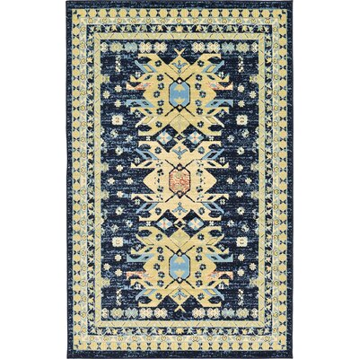 Valley Navy Blue Area Rug Rug Size: 5 x 8