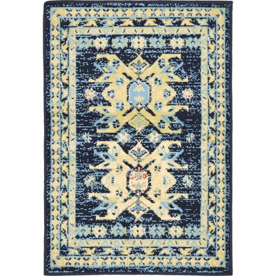Valley Navy Blue Area Rug Rug Size: 4 x 6