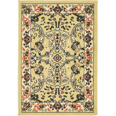 Essehoul Yellow Area Rug Rug Size: 22 x 3
