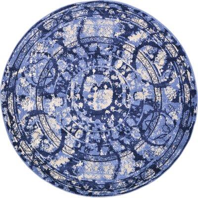 Kelaa Blue Area Rug Rug Size: Round 6