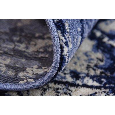 Kelaa Blue Area Rug Rug Size: Runner 27 x 10
