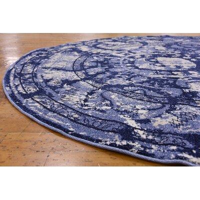 Kelaa Blue Area Rug Rug Size: Round 3