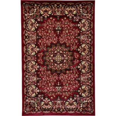 Astral Red Area Rug Rug Size: 5 x 8