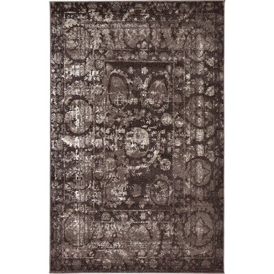 Kelaa Brown Area Rug Rug Size: 5 x 8