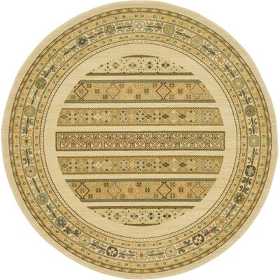 Jan Area Rug Rug Size: Round 6