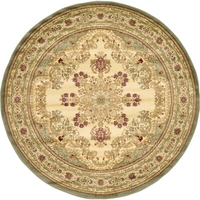 Anzac Cream Area Rug Rug Size: Round 8'