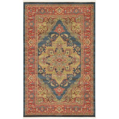 Valley Blue Area Rug Rug Size: 106 x 165