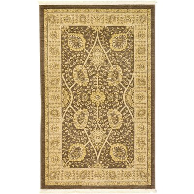 Fonciere Brown Area Rug Rug Size: 5 x 8