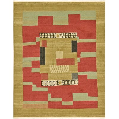 Jan Rust/Gold Area Rug Rug Size: 8 x 10