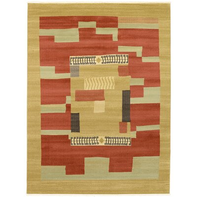 Jan Rust/Gold Area Rug Rug Size: 9 x 12