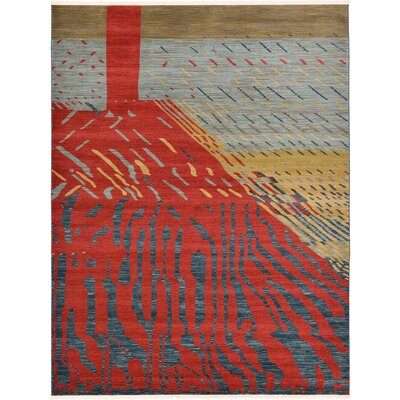 Foret Noire Red Area Rug Rug Size: 9 x 12