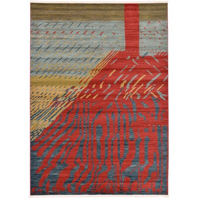 Foret Noire Red Area Rug Rug Size: 7 x 10