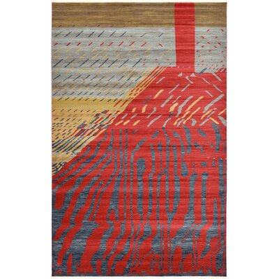Foret Noire Red Area Rug Rug Size: 5 x 8