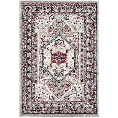 Valley Gray Area Rug Rug Size: 22 x 32