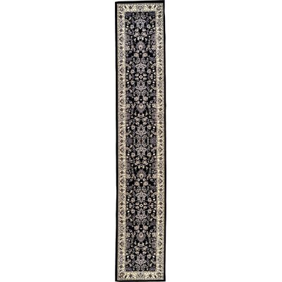 Essehoul Black Area Rug Rug Size: Runner 3 x 165