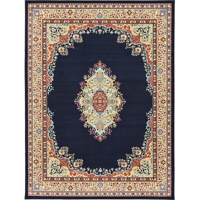 Astral Navy Blue Area Rug Rug Size: Rectangle 910 x 13