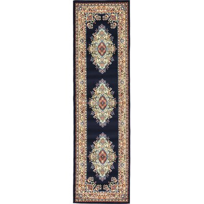Astral Navy Blue Area Rug Rug Size: Runner 27 x 10