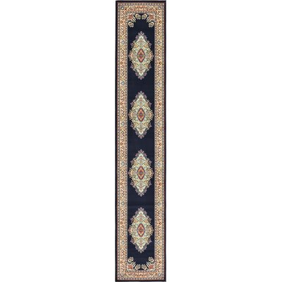 Astral Navy Blue Area Rug Rug Size: Runner 3 x 165