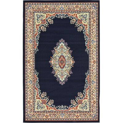 Astral Navy Blue Area Rug Rug Size: Rectangle 5 x 8