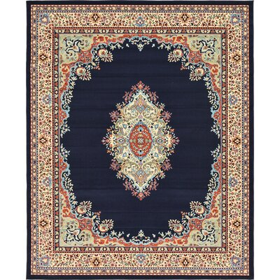 Astral Navy Blue Area Rug Rug Size: 8 x 10