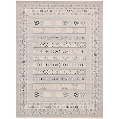 Foret Noire Light Gray Area Rug Rug Size: 7 x 10