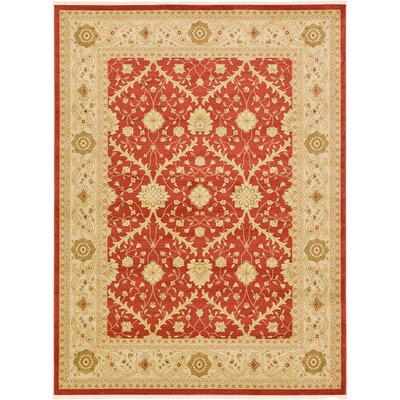 Fonciere Rust Red Area Rug Rug Size: 106 x 165