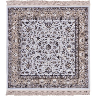 Jeanelle Light Blue Area Rug Rug Size: Square 4