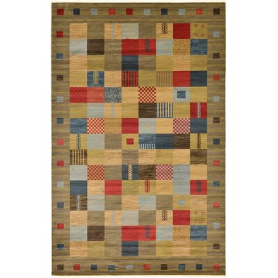 Jan Light Brown Geometric Area Rug Rug Size: 9 x 12
