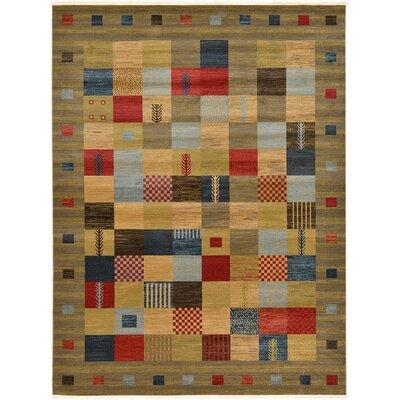 Jan Light Brown Geometric Area Rug Rug Size: 33 x 53