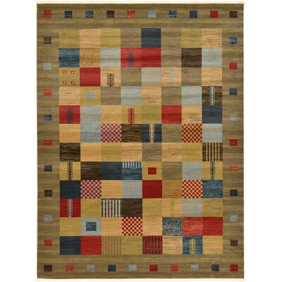 Jan Light Brown Geometric Area Rug Rug Size: 7 x 10