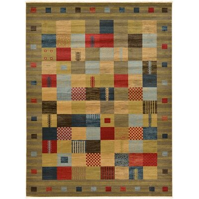 Jan Light Brown Geometric Area Rug Rug Size: 6 x 9