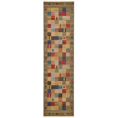 Jan Light Brown Geometric Area Rug Rug Size: 3 x 10