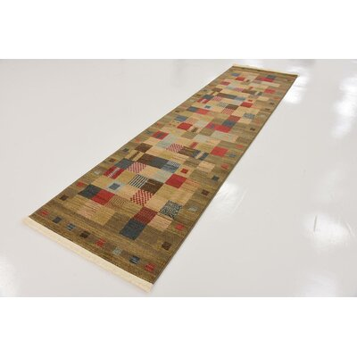 Jan Light Brown Geometric Area Rug Rug Size: Rectangle 5 x 8