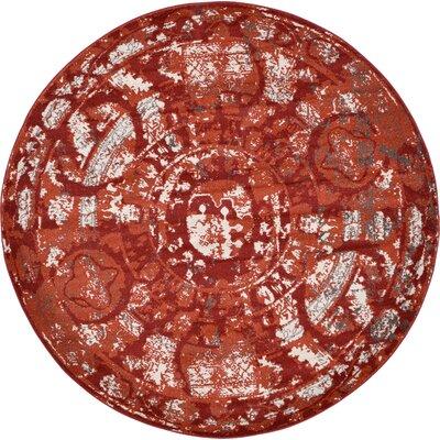 Kelaa Terracotta Area Rug Rug Size: Round 8