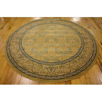 Fonciere Tan Area Rug Rug Size: Round 8