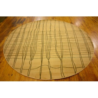 Foret Noire Brown Area Rug Rug Size: Round 6