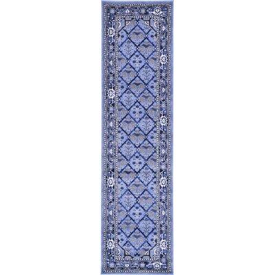 Katiranoma Blue Area Rug Rug Size: Runner 27 x 10