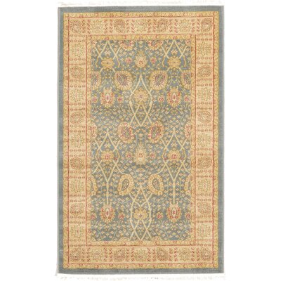 Fonciere Light Blue Area Rug Rug Size: 106 x 165