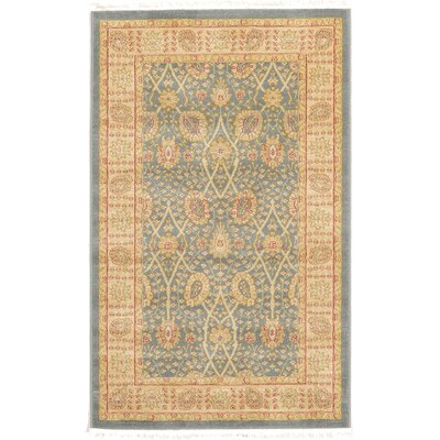 Fonciere Light Blue Area Rug Rug Size: 82 x 116