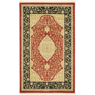 Fonciere Red Area Rug Rug Size: 9 x 12