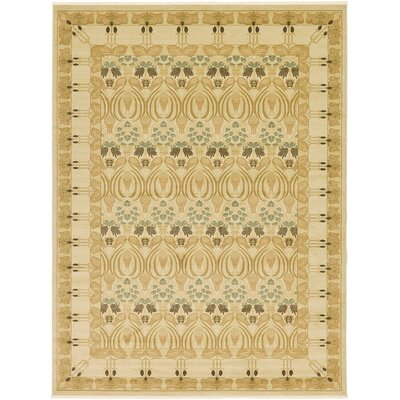 Jamar Cream Ikat Area Rug Rug Size: Rectangle 33 x 53