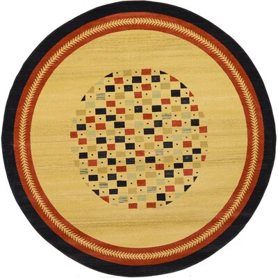 Virginia Beige Area Rug Rug Size: Round 6