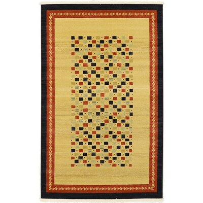Virginia Beige Area Rug Rug Size: 5 x 8