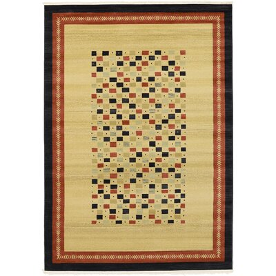 Virginia Beige Area Rug Rug Size: 7 x 10
