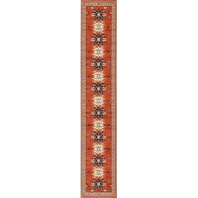 Zoey Red Area Rug Rug Size: Runner 3 x 165