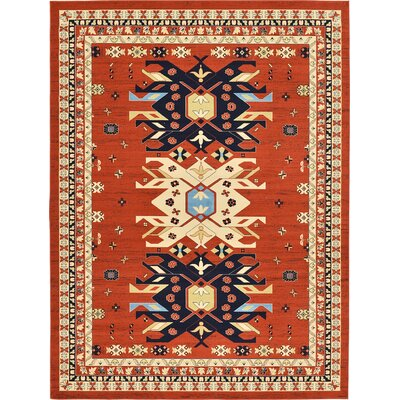 Zoey Terracotta Area Rug Rug Size: Square 8